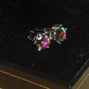 Jewelry - Silver Plated Mystic Topaz Earrings